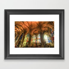 Winter Sun Cathedral Framed Art Print