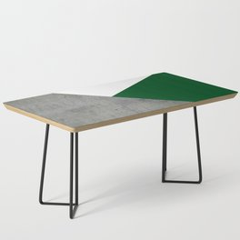 Concrete Festive Green White Coffee Table