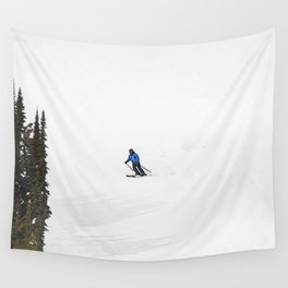Downhill Skier - Winter Sports Scene Wall Tapestry