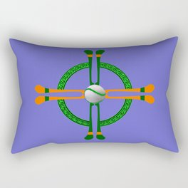 Hurley and Ball Celtic Cross Design - Solid colour background Rectangular Pillow