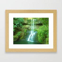 Shower time Framed Art Print