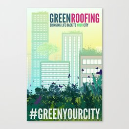 Green Roof Poster Canvas Print