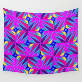 Retro Rosemary Pink Wall Tapestry