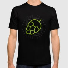 Me So Hoppy Mens Fitted Tee Black LARGE