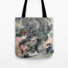 Candle Dragon Tote Bag