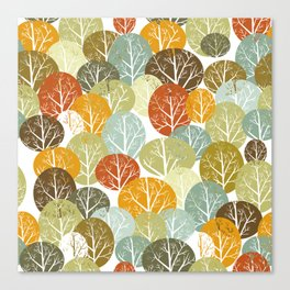 Autumn forest pattern Canvas Print
