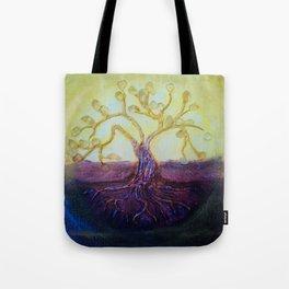 Citrine Tree in Yellow & Purple Tote Bag
