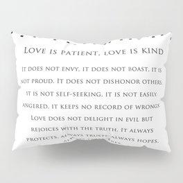 1 Corinthians 13:8 - Love Never Fails - Marriage Bible Wedding Verse Art Print Pillow Sham