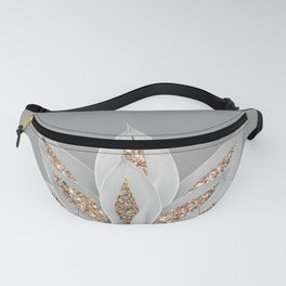 Gray Agave with Gold Glitter #1 #shiny #tropical #decor #art #society6 Fanny Pack