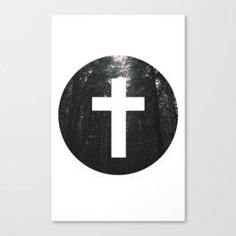 Cross Circle Canvas Print