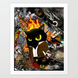 Cat Behemoth (Master & Margarita) Art Print