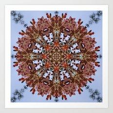 Autumn oak and pine kaleidoscope Art Print