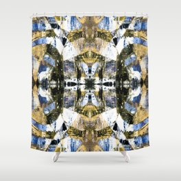 Abstract graffiti pattern Shower Curtain
