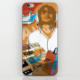 cassette man iPhone Skin