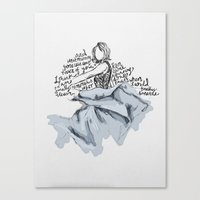 dress Canvas Prints featuring Dress by Faith
