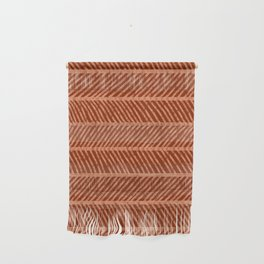 Herringbone Rust and Peach Wall Hanging