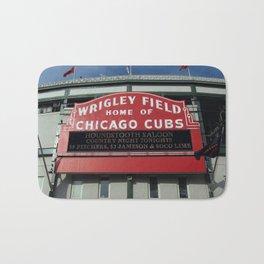 Chicago Wrigley Field Sign Bath Mat