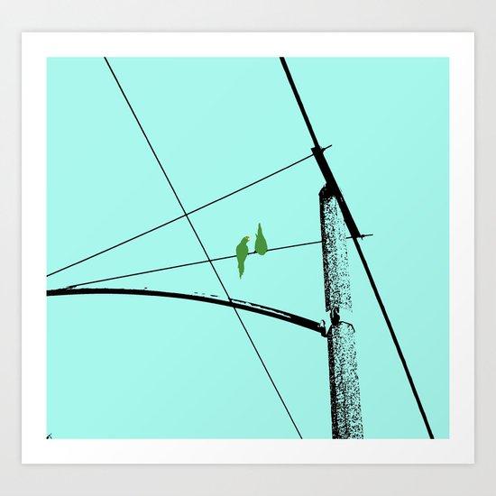 Love Birds Geometry Art Print