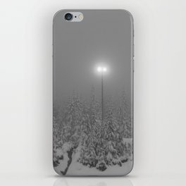 Dark day in the mountains iPhone Skin