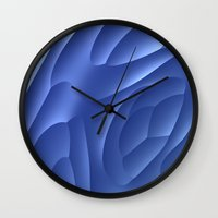 dune Wall Clocks featuring Blue Dune by Lyle Hatch