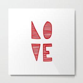 Love is simple - Red Metal Print