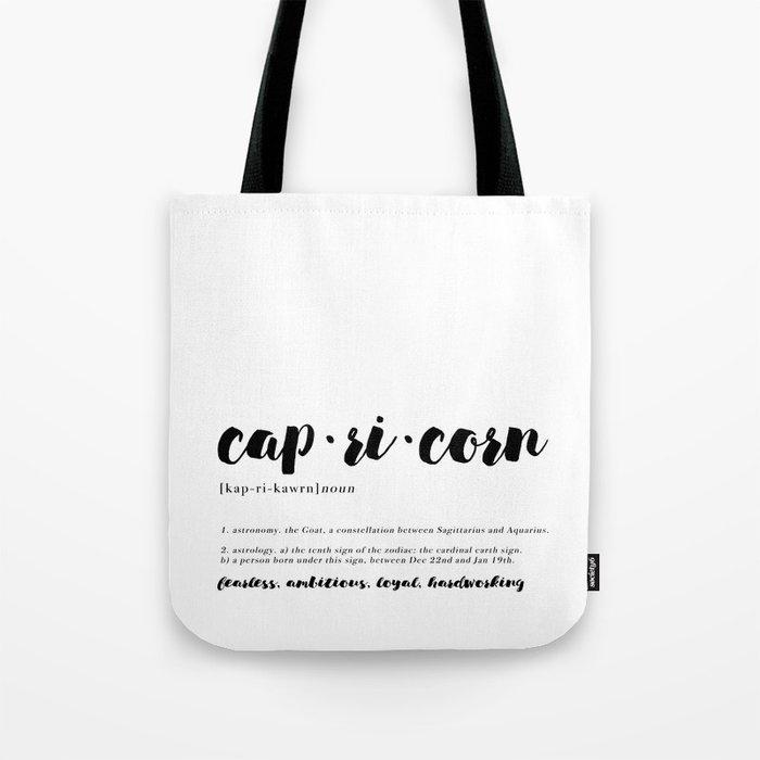 Capricorn - Zodiac Definitions Tote Bag