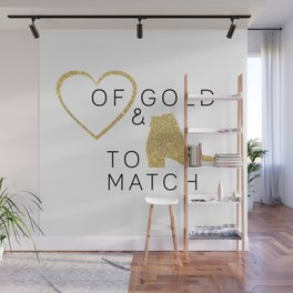 Heart of Gold & Boots to Match Wall Mural