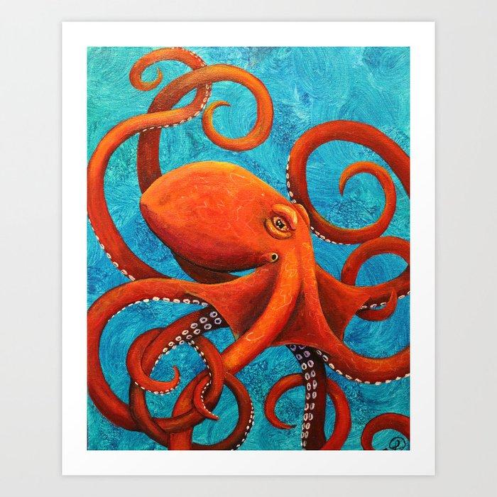 Holding On - Octopus Kunstdrucke
