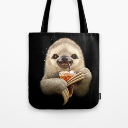 SLOTH & SOFT DRINK Tote Bag