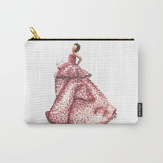 Slight Arc Watercolor Fashion Illustration Carry-All Pouch