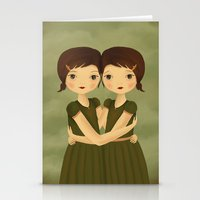 gemini Stationery Cards featuring Gemini by The Midnight Rabbit