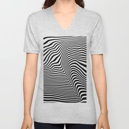 Abstract Lines Unisex V-Neck