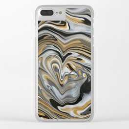 Melting Metals Clear iPhone Case