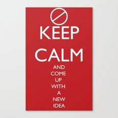 Maybe, Don't Keep Calm Canvas Print