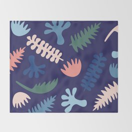 Modern Native Plants Throw Blanket