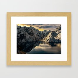 Mountain reflections Framed Art Print