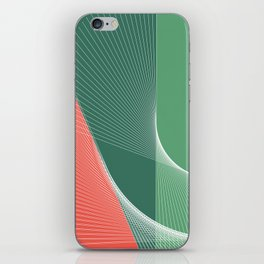 """garden lover"" geometrical minimal green art iPhone Skin"