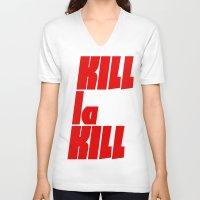 kill la kill V-neck T-shirts featuring Kill La Kill by Subtle Tee