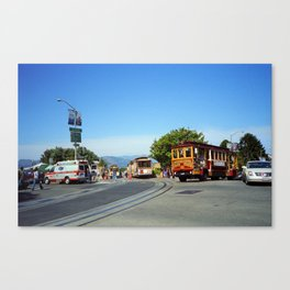 San Francisco Cable Cars 2007 Canvas Print