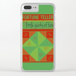 fortune teller the little quirks of fate Clear iPhone Case