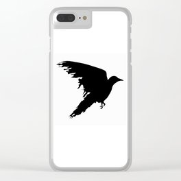 Ragged Raven Silhouette Clear iPhone Case