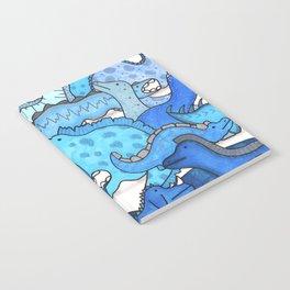 Blue Dinosaur Gradient Notebook