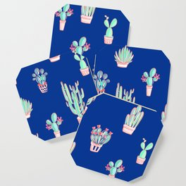 Little cactus pattern - Princess Blue Coaster