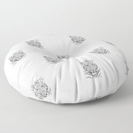 Black and white tiger Floor Pillow