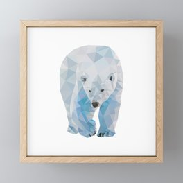 Geometric Polar Bear Framed Mini Art Print