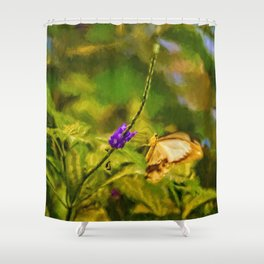 Flutterby World Shower Curtain