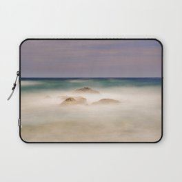 """Windy sea"". Mediterranean sea at sunset. Laptop Sleeve"