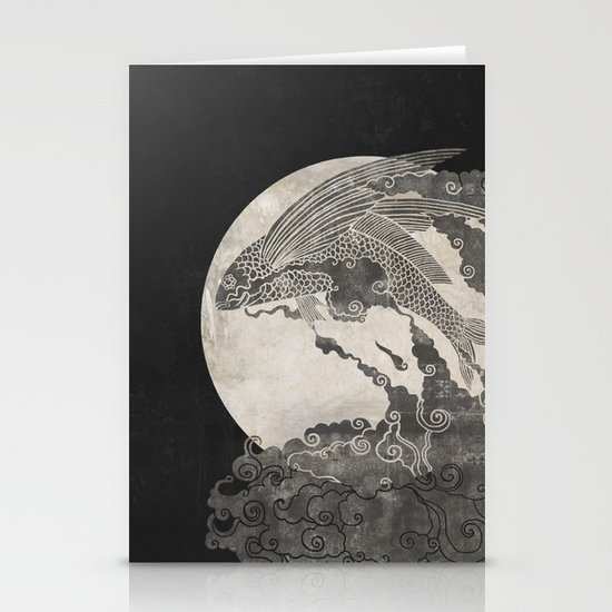 Ocean Moon  Stationery Cards