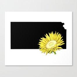 Kansas Silhouette Canvas Print