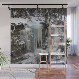 Maligne Canyon Ice Structures Wall Mural